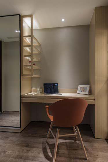 书房卧室一体设计