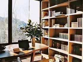 有墙面书架就够了  11个复古书架设计图片