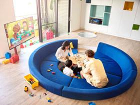 童趣乐园缤纷家 90平乐高公寓装修图