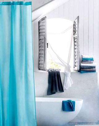 蓝色清爽卫生间设计图