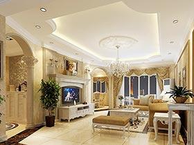 头顶新花样 10个欧式客厅吊顶设计图片