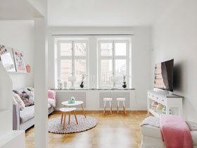 白色控最爱的家  干净通透的北欧两居室
