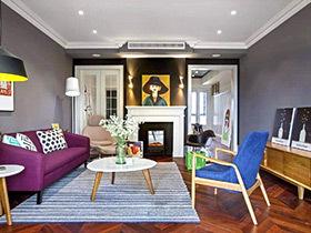 张扬个性色彩 134平混搭风格三室两厅装修