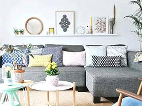 有颜有实力 10个沙发背景墙收纳效果图