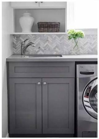 灰色系洗衣房装修图片