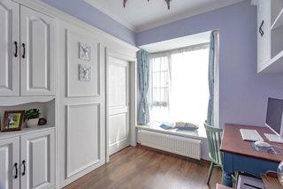 119平美式风格紫色书房装饰设计