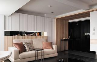 素雅宜家风客厅背景墙设计