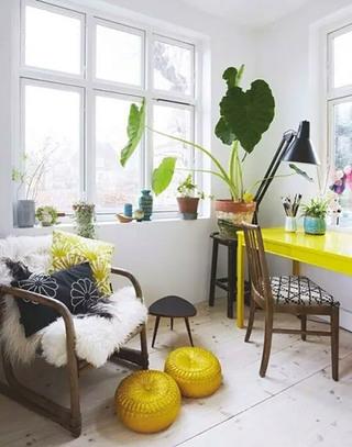 黄色书桌效果图大全