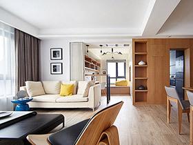 89平三室两厅装修 单身理工男的木色暖家