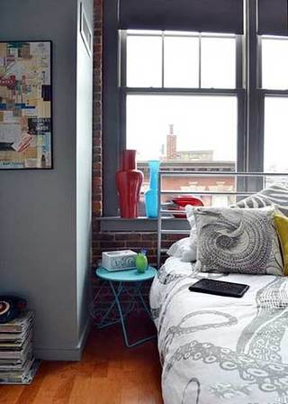 灰色系卧室设计构造图