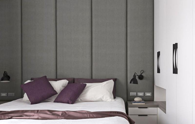 180平北欧风格卧室床头软包效果图