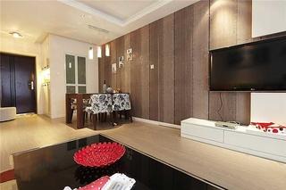 123平两居室简约风装修简约客厅效果图