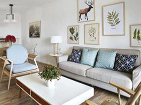 90平米北欧混搭风格二居室装修 拒绝繁杂