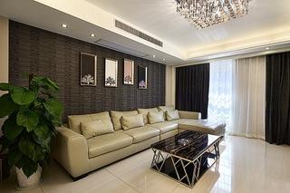 130平精致的简约风格装修简约客厅设计