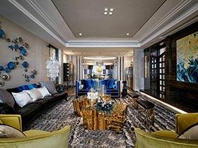 180㎡两居室装修样板房图片  现代质感传奇
