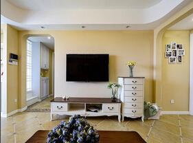 78平休闲美式二居 暖黄色设计超级温馨