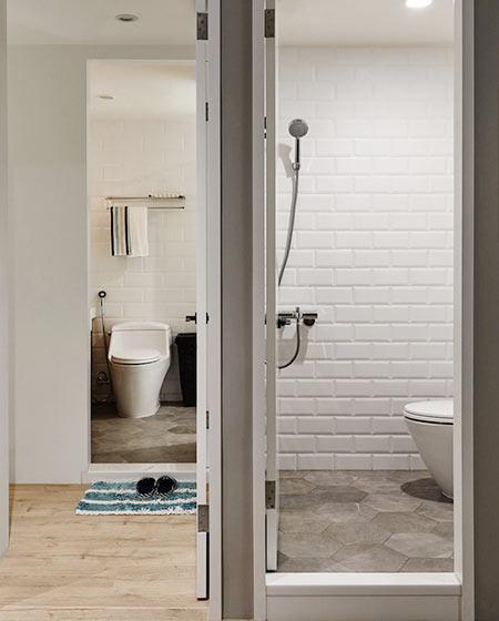 77㎡混搭一居室卫生间装饰图片大全
