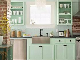 10个厨房装修效果图 薄荷绿才是最夏天的颜色