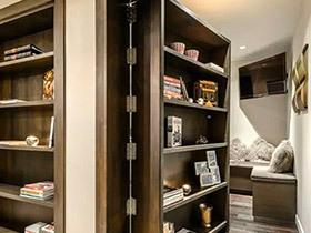 11个书架隐形门效果图 灵活串联家居空间