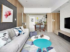 92平北欧风格三室两厅装修 北欧风新婚宅