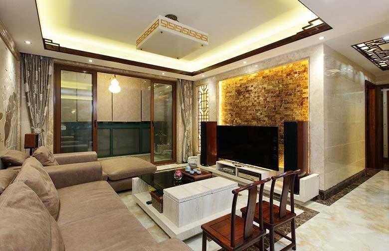 145平米两居室装修装饰效果图