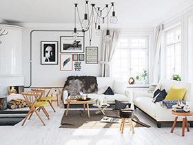 复古北欧风格公寓 知性美女打造的艺术空间