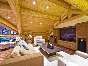 原始的暖流  木质电视墙装修效果图大全