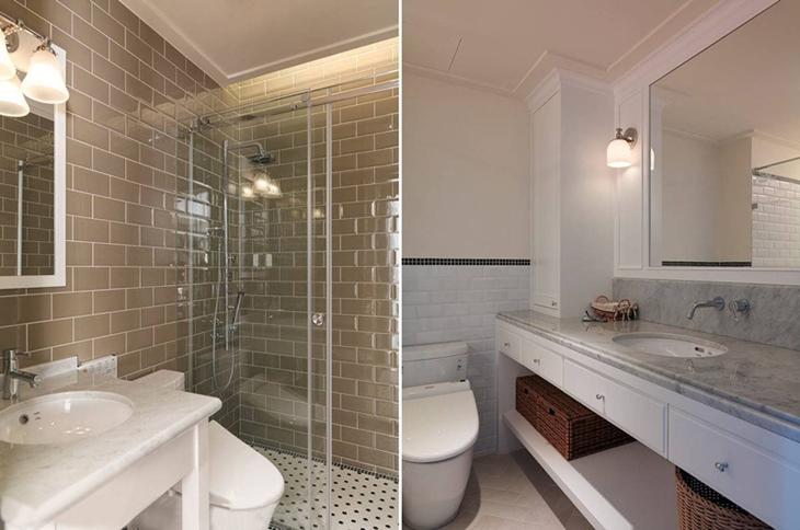 美式风格三居卫生间瓷砖设计