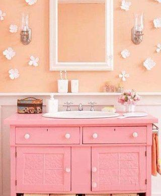 粉色系卫生间装修装饰效果图