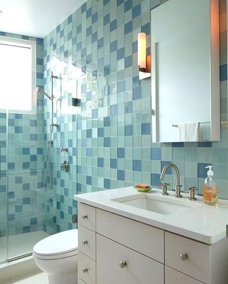 卫生间背景墙瓷砖设计