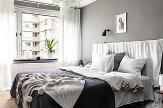灰色系北欧风卧室装饰效果图