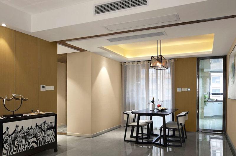 现代简约公寓餐厅吊顶装修