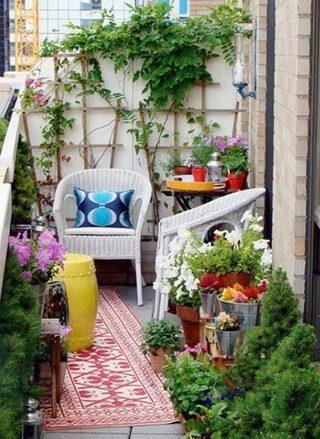 阳台改造花园装修图片