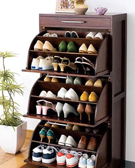 实木鞋柜收纳玄关效果图
