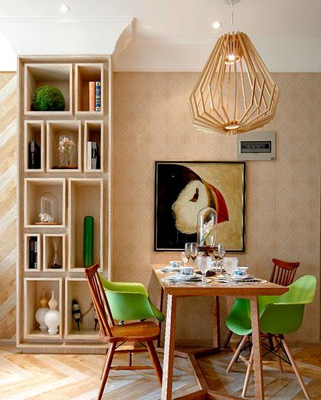 温馨混搭风餐厅背景墙设计