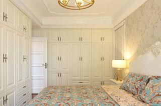 简美式家居 米色卧室衣柜效果图
