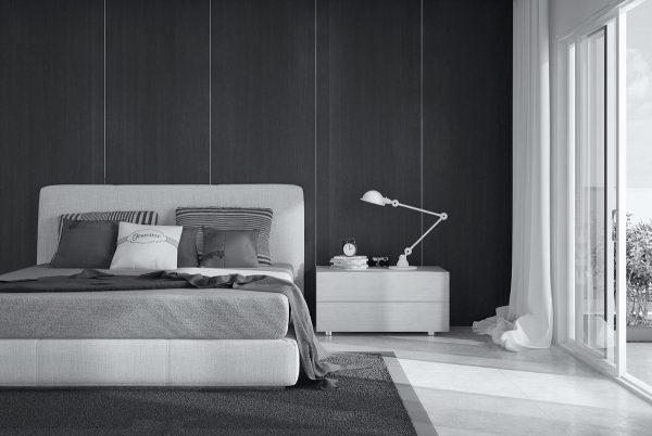 灰色卧室装修装饰效果图
