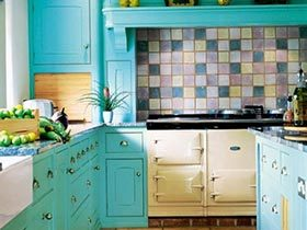 多彩厨房  10款厨房小花砖设计图