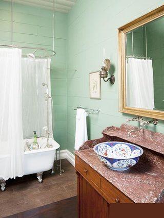 绿色卫生间实景图