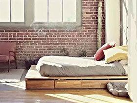 11个木质地台床效果图 省钱也能拉风