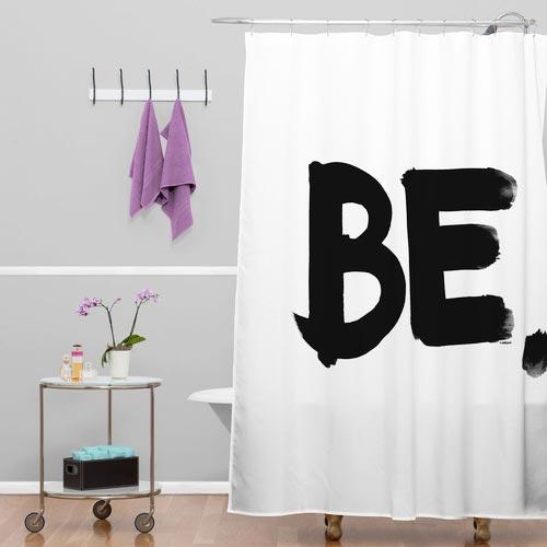艺术浴室帘装修装饰效果图