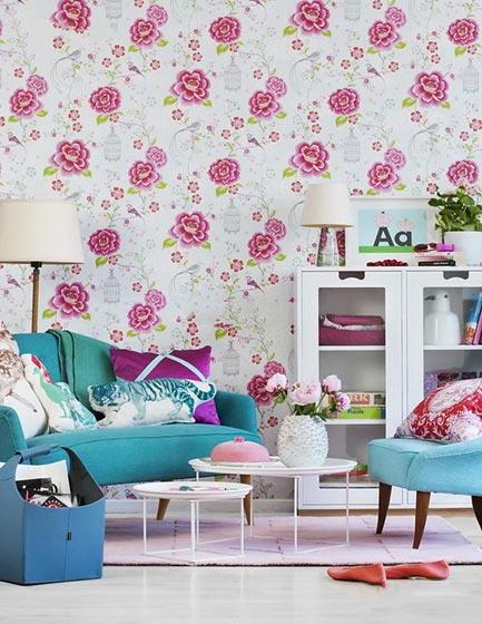 客厅壁纸装修装饰效果图