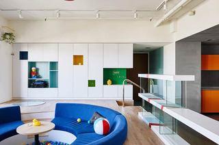 混搭风格两居室装修客厅设计图