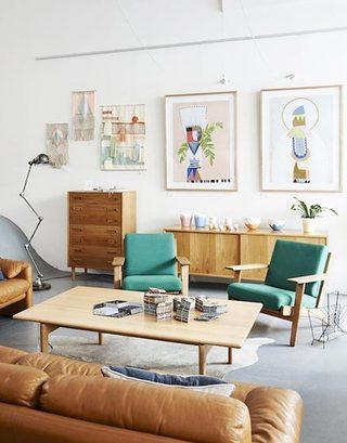 彩色客厅布置摆放图片
