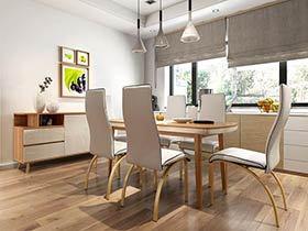 11个餐厅装修木地板图片 感受清新自然风