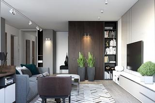 简约风格样板房客厅效果图
