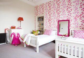粉色系儿童房装修装饰效果图