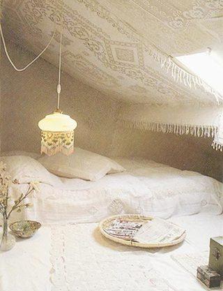 白色系阁楼卧室装修平面图