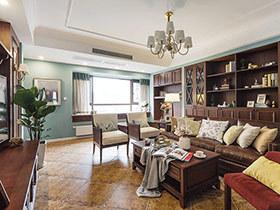 120平现代美式风格三室两厅装修 悠扬的琴声