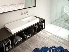 10个实用浴室柜收纳效果图 还原浴室清爽